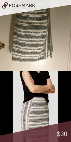 """LOFT Mosaic Stripe Pencil Skirt LOFT Mosaic Stripe Pencil Skirt. 100% cotton with vents on both sides and falls just above the knees. Length is 23"""". Fully lined. New with tags, never worn. Smoke free home. LOFT Skirts Pencil"""