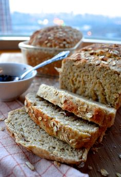 This is an amazingly delicious homemade multigrain bread recipe. We grind raw grains to make multigrain mix for this high quality homemade multigrain bread Bread Machine Recipes, Bread Recipes, Cooking Recipes, 9 Grain Bread Recipe, Healthy Homemade Bread, Homemade Biscuits, Homemade Breads, Buckwheat Recipes, Skinny Recipes