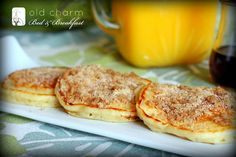 cinnamon streusel pancakes--amazing, delightful and fabulous! and so easy!