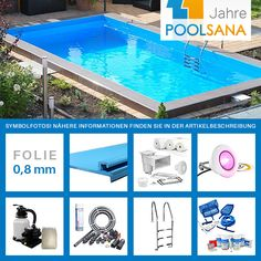 Styropor-Pool / Rechteck-Poolsets