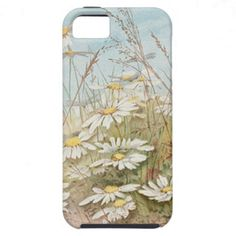 Vintage Daisies In A Field Easter Card iPhone 5 Case