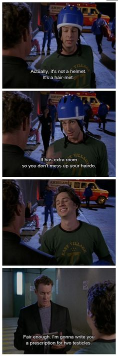 """When J.D. had the dorkiest helmet. 