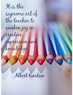 This is an inspirational poster featuring a quote by Albert Einstein. It can be used to decorate a classroom or simply to share with and encourage fellow educators!
