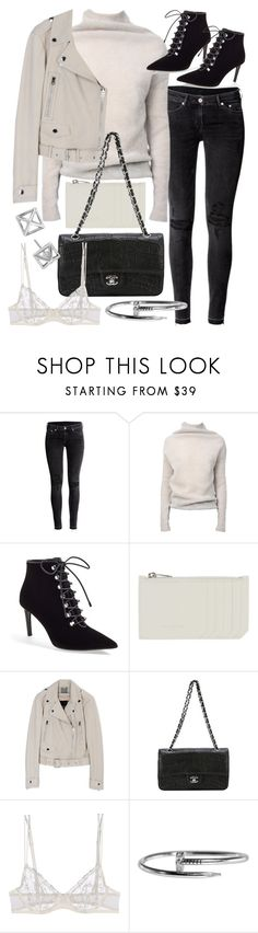 """Untitled #20278"" by florencia95 ❤ liked on Polyvore featuring H&M, Rick Owens, Balenciaga, Yves Saint Laurent, Chanel, La Perla and Rebecca Minkoff"