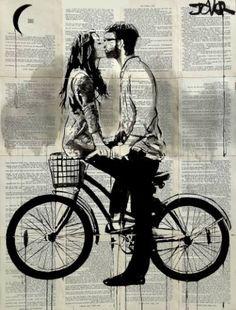 "Saatchi Art Artist Loui Jover; Drawing, ""together"" #art"