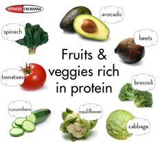 Here are some Fruits and Veggies rich in protein. #diet #nutrition #fitness