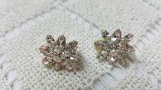 Dazzling  Petite Rhinestone  clip earrings