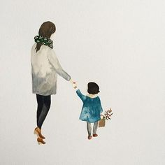 The sweetest illustration by @saarmanche featuring our Jasmund coat in Teal #caramelbabyandchild