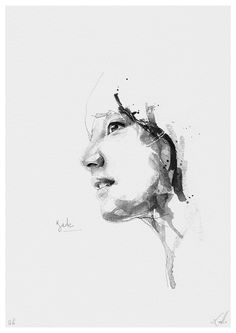 Black and white portraits series.I try to create an image that retains the freshness of the first paint stroke, and to find the union between spontaneity and realism.