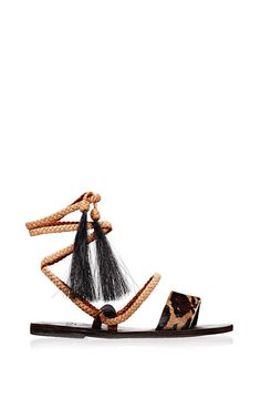 Leopard Karen Sandal by Brother Vellies for Preorder on Moda Operandi