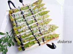 Blog de cuina de la dolorss: Tostadas de espárragos verdes con polvo de parmesano