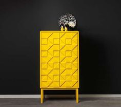 Peaceful Inspiration Ideas Yellow Furniture Bright Swedish Cabinets Collection From Designer Diversos Painted Furniture, Home Furniture, Modern Furniture, Furniture Design, Furniture Ideas, Furniture Storage, Luxury Furniture, Home Storage Cabinets, Yellow Cabinets