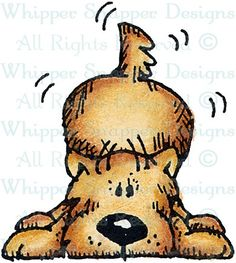 Playful Maloo - Dogs - Animals - Rubber Stamps
