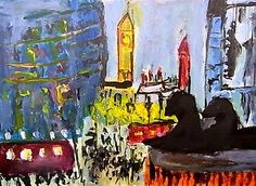 Cityscape-3-Laura-Mars-Whitstable-original-contemporary-painting Landscape Paintings, Landscapes, Contemporary Paintings, Impressionist, Mars, Original Art, The Originals, Artist, Ebay
