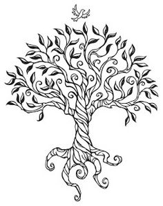 line drawing leaves | Busy Drawing Illustration Blog: Shirley's Tree