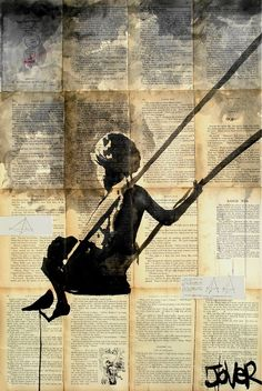 "The Best Days Fly By | Loui Jover  ""How I love to go up in a swing,  up in the air so blue! Oh, I do think 'tis the pleasantest thing  that ever a child could do!..."" ~ Robert Louis Stevenson's  The Swing"