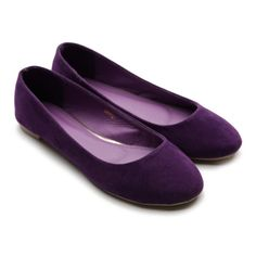Ollio Women's Faux Suede Ballet Flat Loafers Cute Slip Multi-Color Shoes : ALL