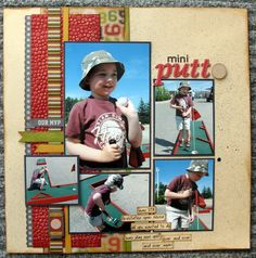 mini putt - Scrapbook.com (by Shelebrity) Wendy Schultz onto Scrapbook Layouts.