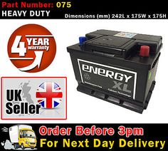 #Energy xl 075 car battery #calcium for bmw 3 #series (e46) 318i 99-  petrol,  View more on the LINK: http://www.zeppy.io/product/gb/2/261773132742/