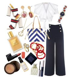 """""""Nautical"""" by tinkletonk on Polyvore featuring Jane Norman, bleu, Orla Kiely, Gucci, Dooney & Bourke, Temperley London, Blue Nile, Tom Ford, NARS Cosmetics and NEST Jewelry"""