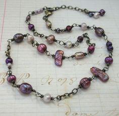 Purple Natasha Necklace