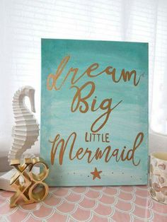 Mermaid saying that goes with the little mermaid!