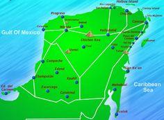 Mexican Riviera Maya Map