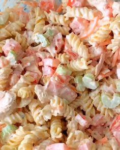 Chicken Pasta Salad Recipes, Canned Tuna Recipes, Tuna Salad Pasta, Canned Chicken, Crab Salad, Shrimp Salad, Macaroni Salad, Healthy Eating Recipes, Healthy Breakfast Recipes