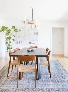49 Comfy Mid Century Dining Room Table Ideas - All For Decoration Dining Room Design, Dining Room Chairs, Office Chairs, Wooden Dining Table Modern, Modern Chairs, Simple Dining Table, Dining Set, Outdoor Dining, Midcentury Modern