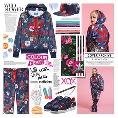 """Rita Ora x Adidas"" by kumi-chan ❤ liked on Polyvore featuring GALA, adidas, adidas Originals and Rimmel"
