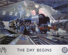 The Day Begins LMS Engine Art Print