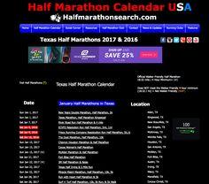 Search for Texas Half Marathons - Texas Half Marathon Calendar - Schedule of Texas Half Marathons in the USA #Texas  http://www.halfmarathonsearch.com/half-marathons-texas