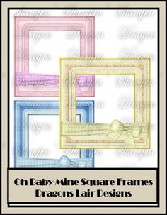 Oh Baby Mine Collection - Square Frames