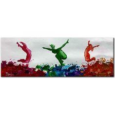Zenon acryl schilderij Jazz Dans, kleurige dansvoorstelling Kunstvoorjou.nl #zenon #kunstvoorjou #dans #jazzdans #schilderij