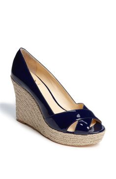 df5ac016df58bf Navy Wedge. Beautiful but pricey!  225.00 It s so hard to find a stylish  navy