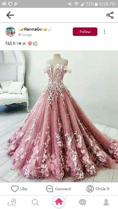 Dreamy pink off shoulder prom party dresses, gorgeous beaded evening gowns with feather, chic fashion formal gowns · SexyPromDress · Online Store Powered by Storenvy Puffy Prom Dresses, Quince Dresses, Prom Dresses 2018, Pageant Gowns, Prom Party Dresses, Bridal Dresses, Pink Dresses, Party Gowns, Bridal Gown