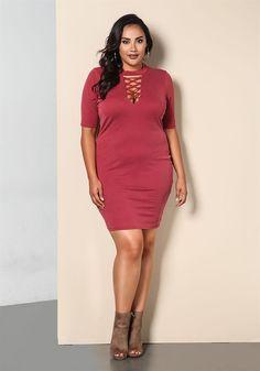 300d23d946f www.debshops.com  debshops  plussize ♡ Plus Size Bodycon Dresses