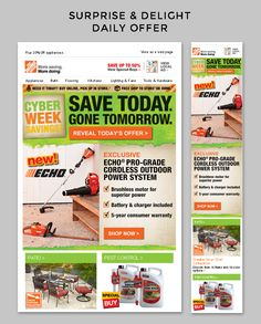 The Home Depot | The Home Depot shows that animation is not needed to drive engagement in a surprise & delight campaign. A simple banner with clear CTA is used to drive email subscribers to a landing page with a countdown clock and exclusive offer. The generic language means that the landing page can be kept up to date for those late clicks that are bound to happen with most promotional campaigns. | Kandice Carlson, Strategic Services Manager, Salesforce Marketing Cloud