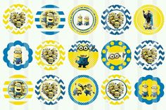 Minions cupcake toppers!