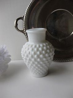 Lilia's two specialties! Antique silver and milk glass.