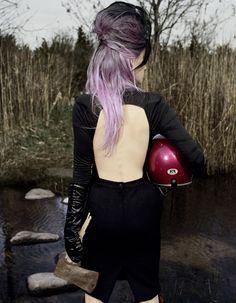 purple hair, shorter hair, dip dye hair, hair colors, colored hair, ombre hair, lilac hair, hair color ideas, hair chalk
