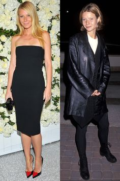 Now: At the Barneys New York Victoria Beckham Collection dinner Then: At the Flesh & Bone premiere in 1993   - ELLE.com