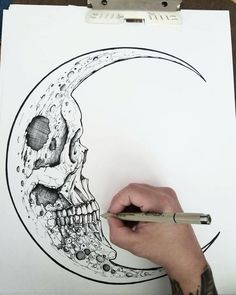 The Fearful Skull on – A R T – Art drawings, Art, Tattoo drawings skull art tattoo - Tattoos And Body Art Body Art Tattoos, Tattoo Drawings, Cool Tattoos, Art Drawings, Badass Drawings, Tattoo Art, Skeleton Drawings, Creepy Drawings, Awesome Drawings