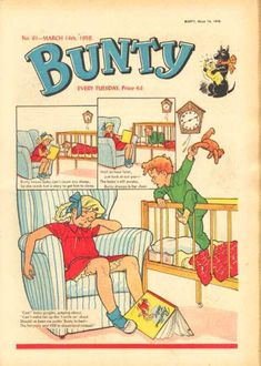 Bunty comic - the Four Marys and those wonderful cut out wardrobes each week on the back.