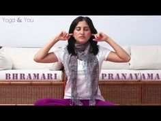 How to do Bhramari Pranayama (Bee Breathing Technique) | Ventuno Yoga an...