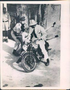 A scene from Hollywood blockbuster 'Bhowani Junction' being shot outside a Lahore police station
