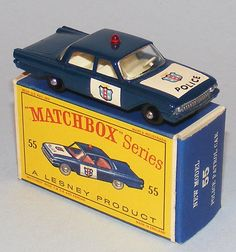 Matchbox b Ford Fairlane Police Car