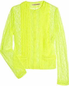 ShopStyle: Christopher Kane Keke neon lace jacket