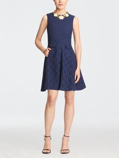eyelet love circle dress | Draper James just got this and it's prettier in person
