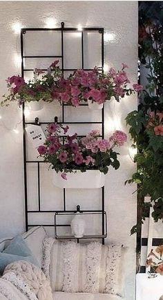 Balkon Design, Ladder Decor, Outdoor, Home Decor, House Decorations, Flowers, Outdoors, Decoration Home, Room Decor